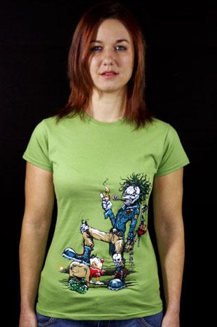 Evil Clown zelené dámské tričko