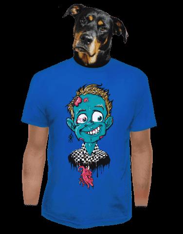 Láska až za hrob modré pánské tričko