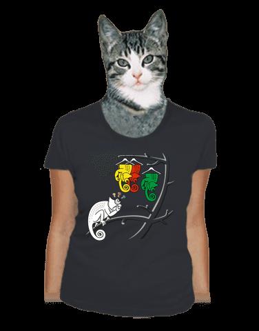 Těžká volba šedé dámské tričko