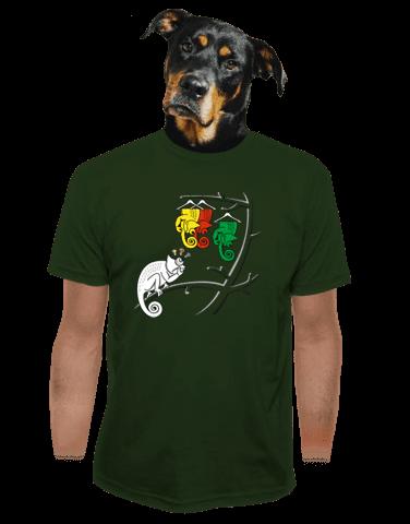Těžká volba zelené pánské tričko