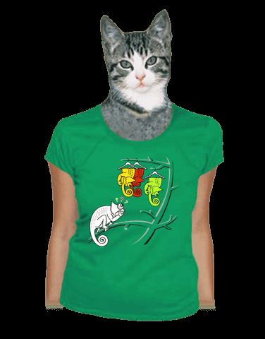 Těžká volba zelené dámské tričko