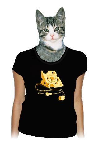 velký náhled - iDam černé dámské tričko