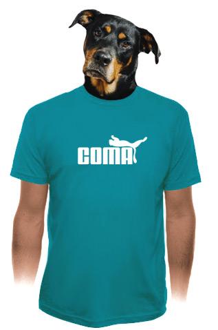 velký náhled - Coma modré pánské tričko