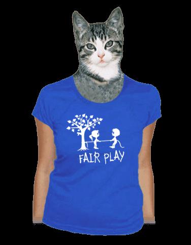 Fair play modré dámské tričko