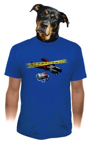 velký náhled - Zoubkovražda modré pánské tričko