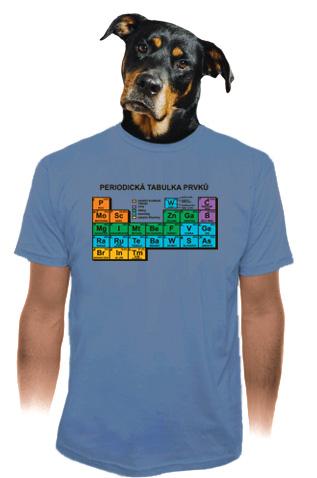 velký náhled - Periodická tabulka modré pánské tričko