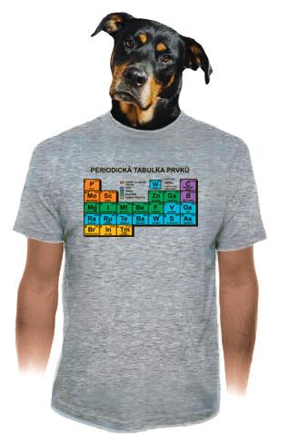 velký náhled - Periodická tabulka šedé pánské tričko