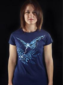 Fake Nature modré dámské tričko