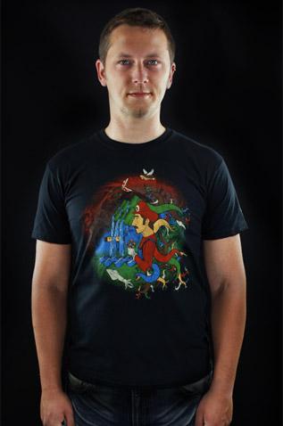velký náhled - Mario's Trip černé pánské tričko