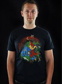 Mario's Trip černé pánské tričko