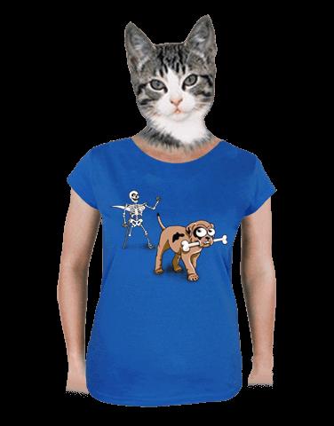 Kostlivec modré dámské tričko