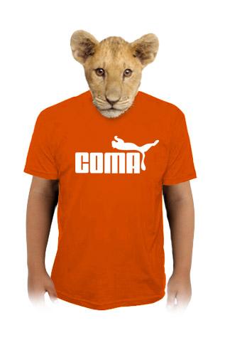 velký náhled - Coma oranžové dětské tričko