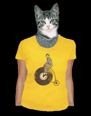 Na čem ujíždíš žluté dámské tričko