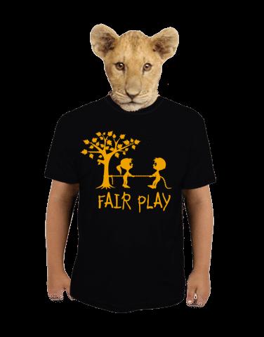 Fair play černé dětské tričko