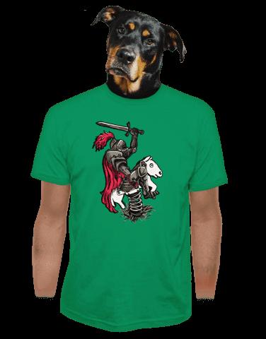 Rytíř zelené pánské tričko