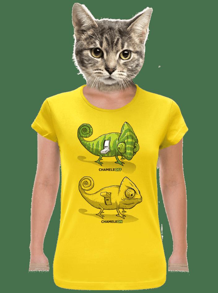 Zapnuto vypnuto žluté dámské tričko