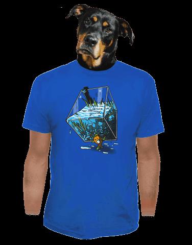 Migrující rybka modré pánské tričko