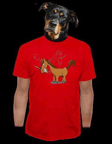 Jednorožec pánské tričko