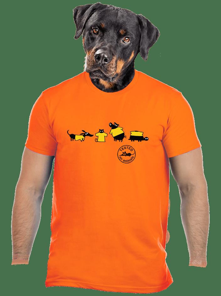 Testováno oranžové pánské tričko