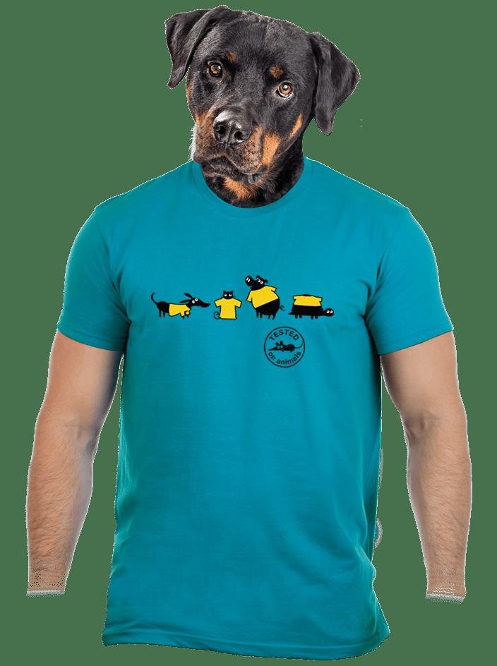 Testováno modré pánské tričko