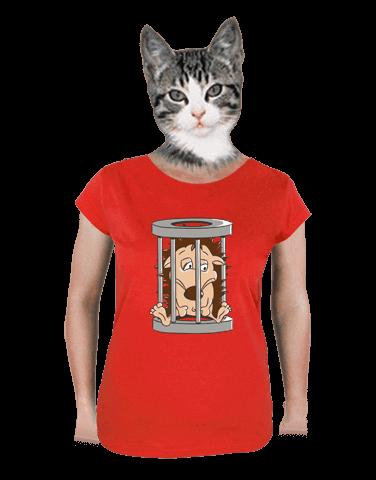 Ježek v kleci červené dámské tričko