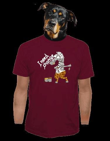 Změna vínové pánské tričko