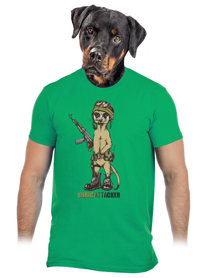 Surikata zelené pánské tričko