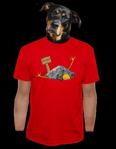 Sova spálená červené pánské tričko