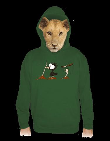 Nesprávný konec zelená dětská mikina