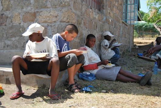 Dětský tábor v Keni