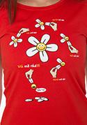 náhled - Má mě rád červené dámské tričko