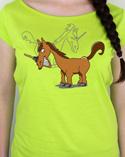 náhled - Jednorožec limetkové dámské tričko