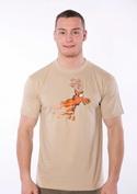 náhled - Stírací los hnědé pánské tričko