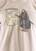 náhled - Winter is Coming hnědé pánské tričko