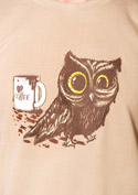 náhled - Sova na kofeinu pánské tričko - nový střih