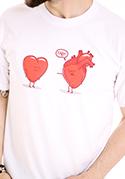 náhled - Srdeční záležitost bílé pánské tričko