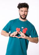 náhled - Srdeční záležitost modré pánské tričko