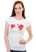 náhled - Srdeční záležitost bílé dámské tričko