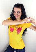 náhled - Srdeční záležitost žluté dámské tričko