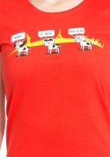 náhled - Ostravačka červené dámské tričko