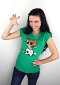 náhled - Tygřík zelené dámské tričko