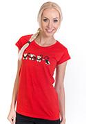 náhled - Opice červené dámské tričko