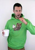 náhled - Sova na kofeinu pánská mikina