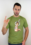 náhled - Piercing zelené pánské tričko