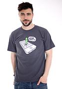 náhled - Wrong Apple šedé pánské tričko