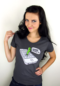 náhled - Wrong Apple šedé dámské tričko