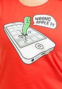 náhled - Wrong Apple červené dámské tričko