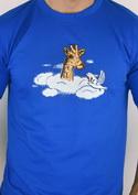 náhled - Žirafa v oblacích pánské tričko