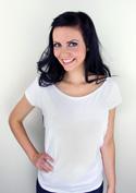 náhled - Dámské tričko lodičkové bílé