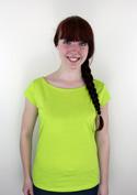 náhled - Dámské tričko lodičkové zelené